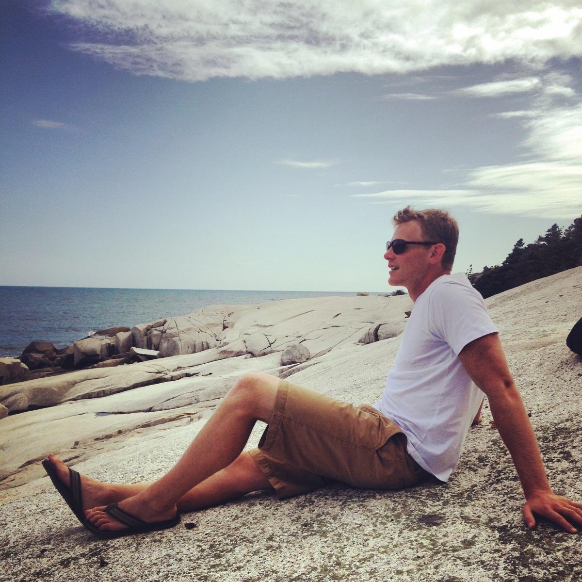 Crystal Crescent Beach off-leash dog-friendly