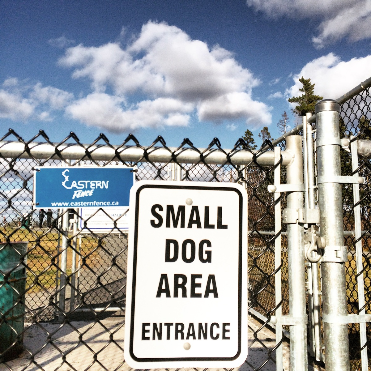 Mainland Common fenced-in off-leash dog park small dog entrance - blog review
