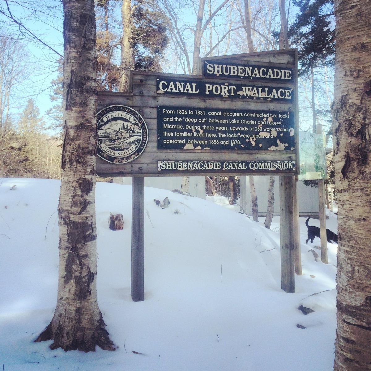 Shubenacadie Canal Sign at Shubie Park