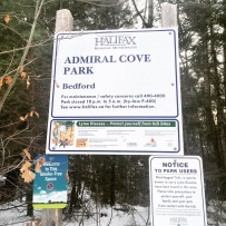 Admiral Cove Park in Bedford, NS is Dog-Friendly - but beware of ticks